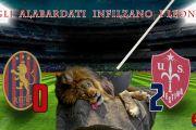 Gli alabardati infilzano i leoni